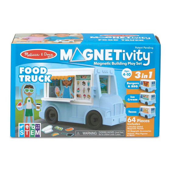 Magnetivity Magnetic Building Play Set Food Truck