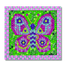 Decorated butterfly mosaic