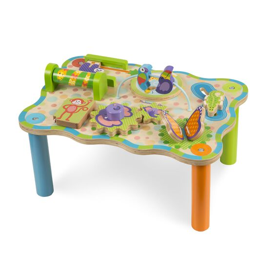 Colorful activity table with various activities
