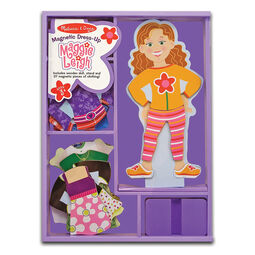 Girl wooden magnetic dress up in packaging