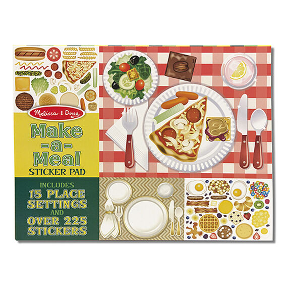 Meal making sticker book