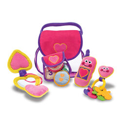 Plush purse and purse items