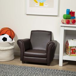 Child's Armchair - Coffee Faux Leather