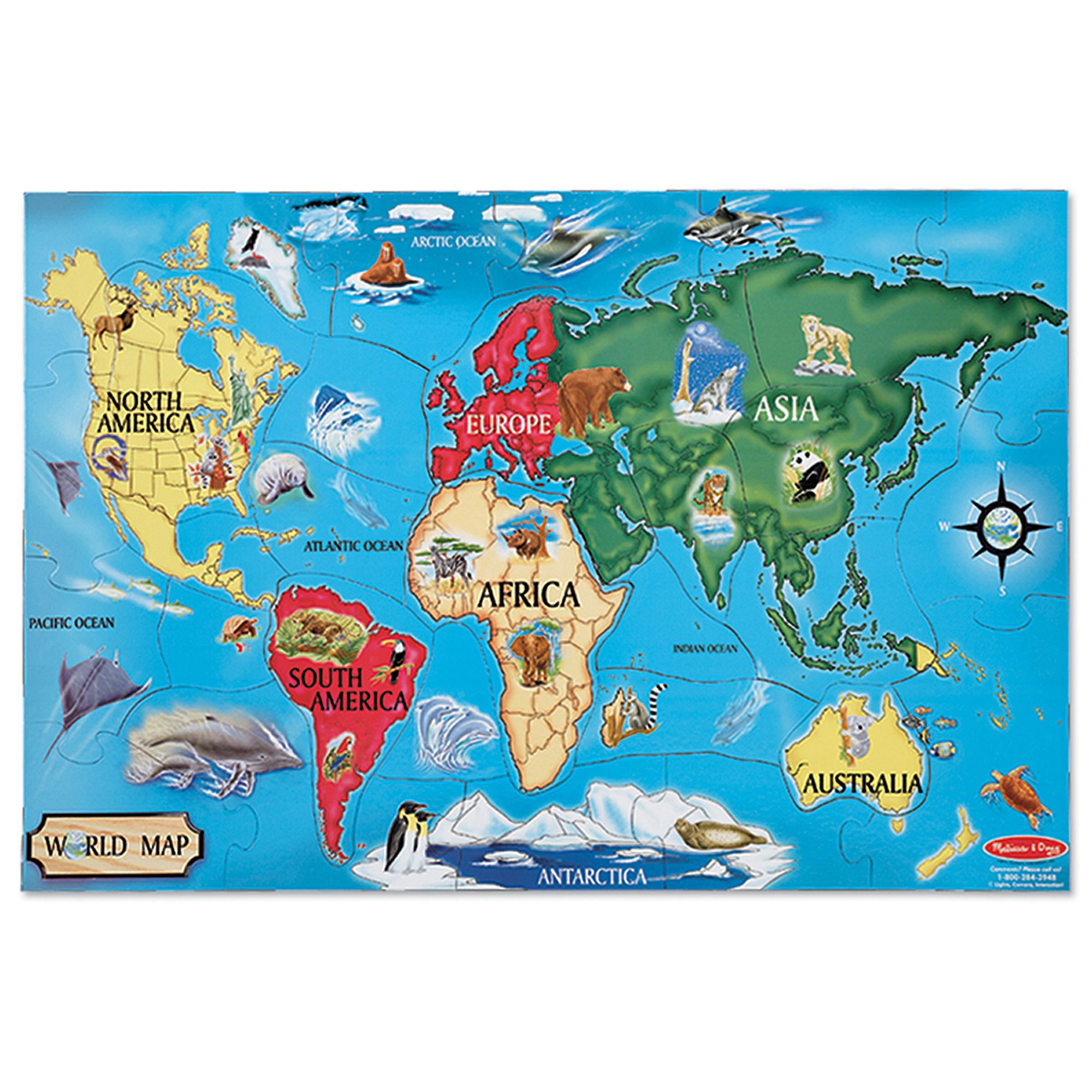 Verdes USA MAP Foam Puzzle Floor Puzzles kcsinc.net
