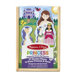 Wooden princess magnetic dress up in packaging