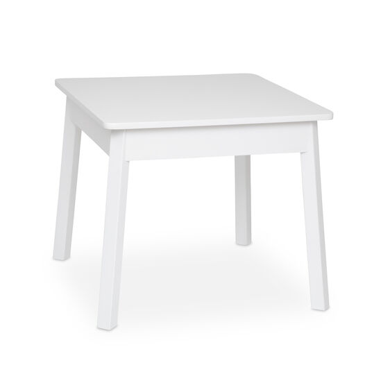 Wooden Square Table (White)