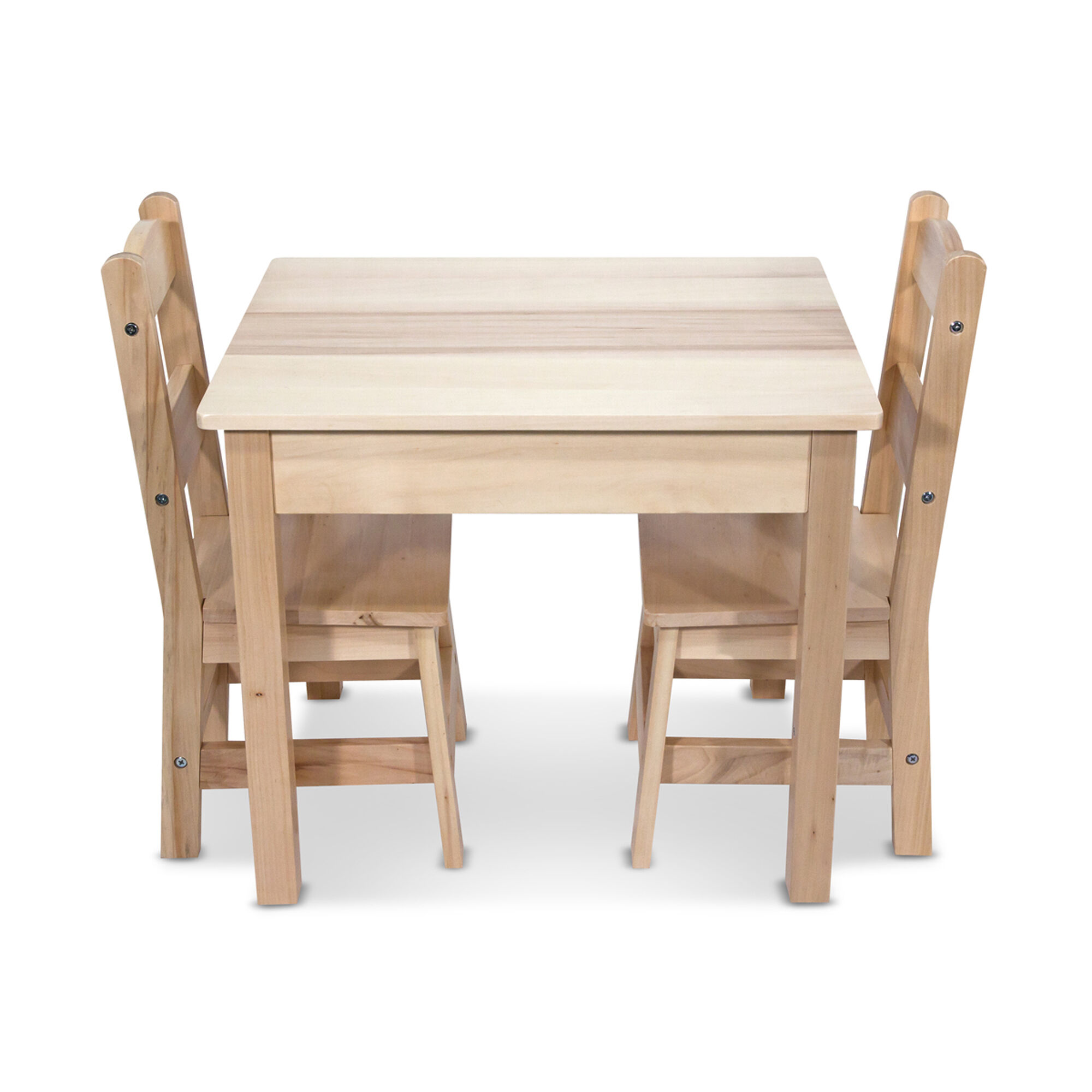 Solid Wood Table \u0026 Chairs 3-Piece Set  sc 1 st  Melissa \u0026 Doug & Wooden Table \u0026 Chairs 3-Piece Set