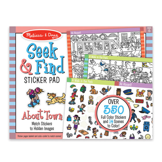 Sticker pad cover with images of various stickers
