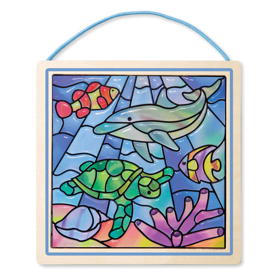 how to draw a stain glass window easy