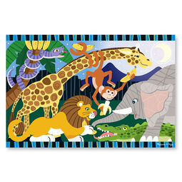 24 piece safari animal floor puzzle