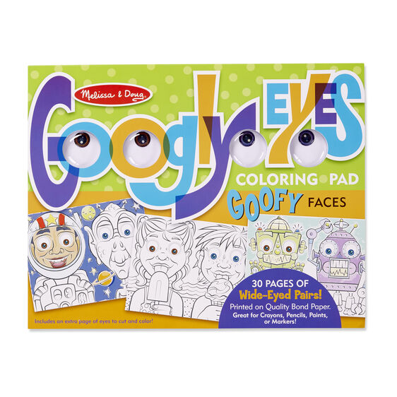 Goofy Faces - Googly Eyes Coloring Pad