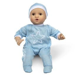 Baby doll with hat and onesie