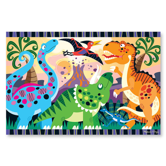 Dinosaur Dawn Floor Puzzle - 24 Pieces