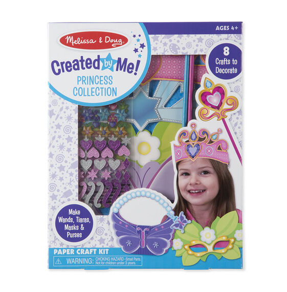 Princess collection paper craft kit in packaging