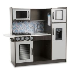 Charcoal colored pretend kitchen