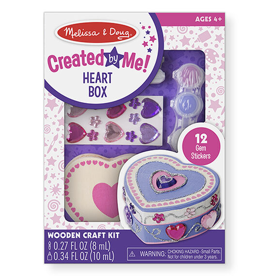 Created by Me! Heart Box Wooden Craft Kit