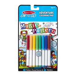 Coloring pad with makers in packaging