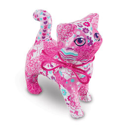 Completed pink cat decoupage