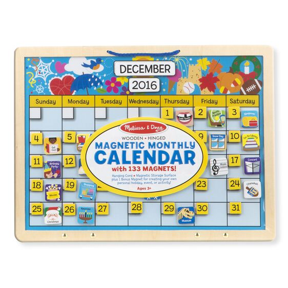 monthly magnetic calendar melissa doug