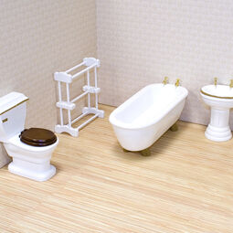Miniature bathroom appliances