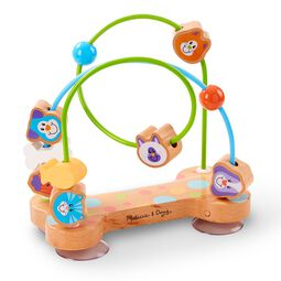 Bead maze with pets beads and suction cups on bottom