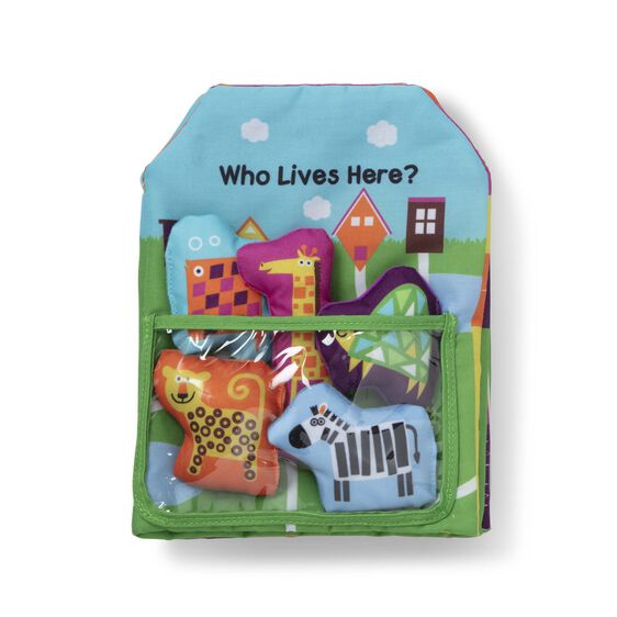 K's Kids Who Lives Here Cloth Book