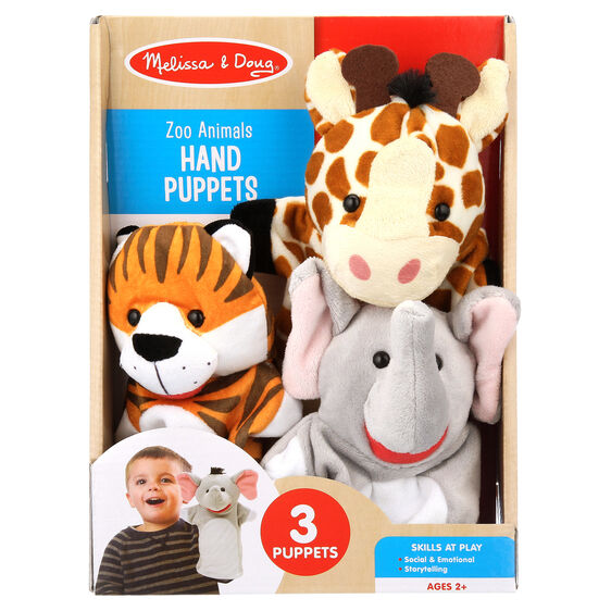 Zoo Animals Hand Puppets
