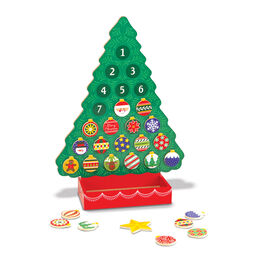 Wooden Christmas tree countdown to Christmas calendar