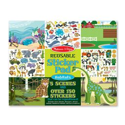 Animal habitats sticker book
