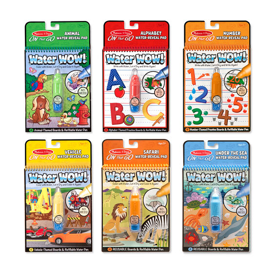 Water Wow! - Water Reveal Pad Bundle - Animals, Alphabet, Numbers and More