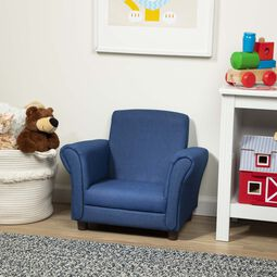 Denim armchair in play room