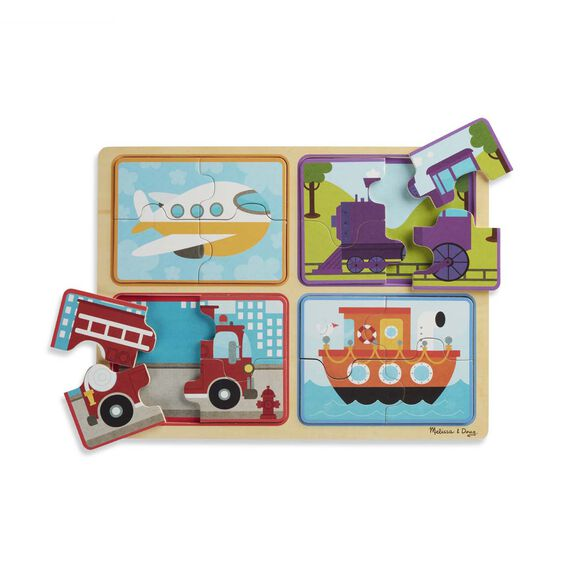 Natural Play Wooden Puzzle: Ready, Set, Go