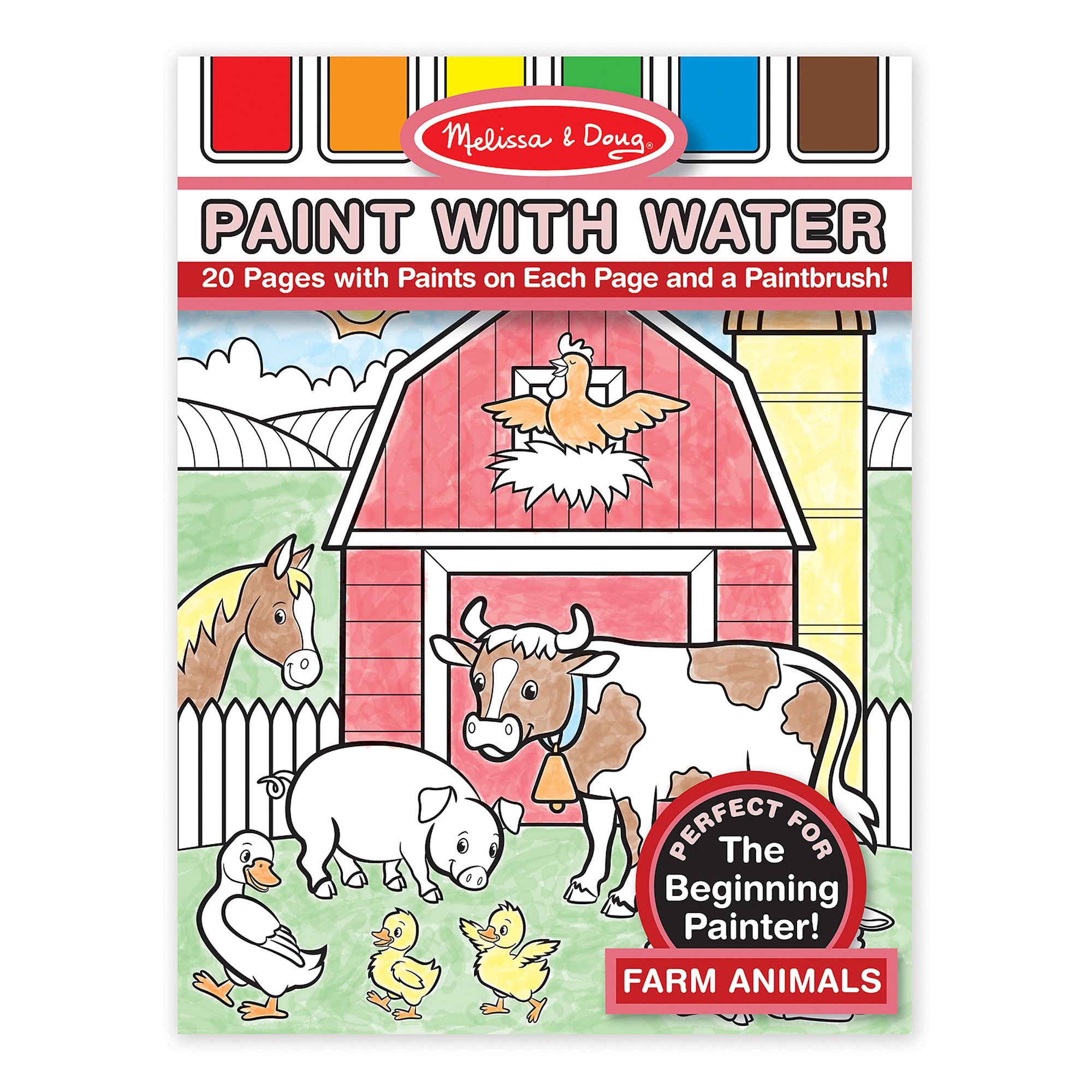 Farm Animals Paint with Water Kids Art Pad