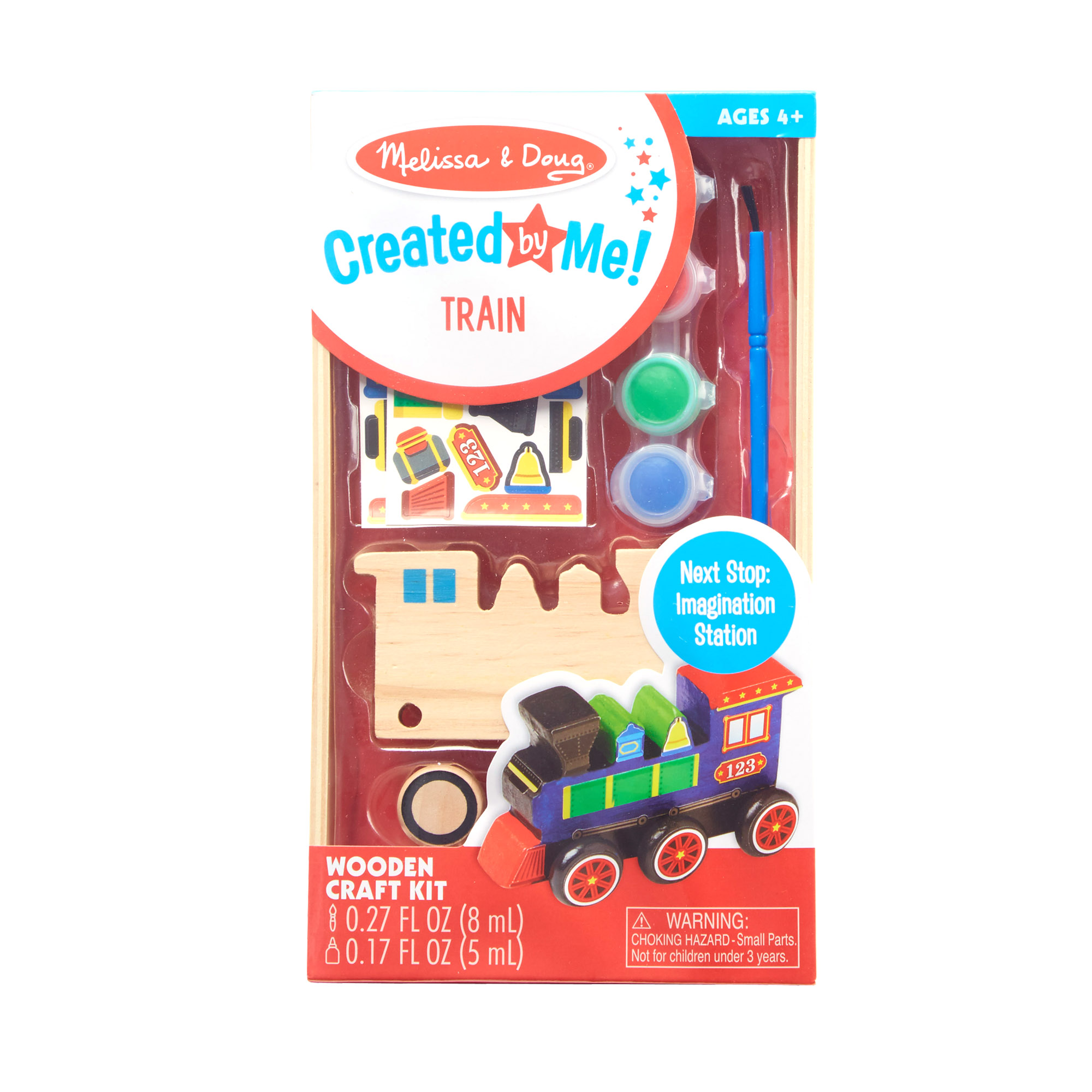 Decorate-Your-Own Wooden Train 8846