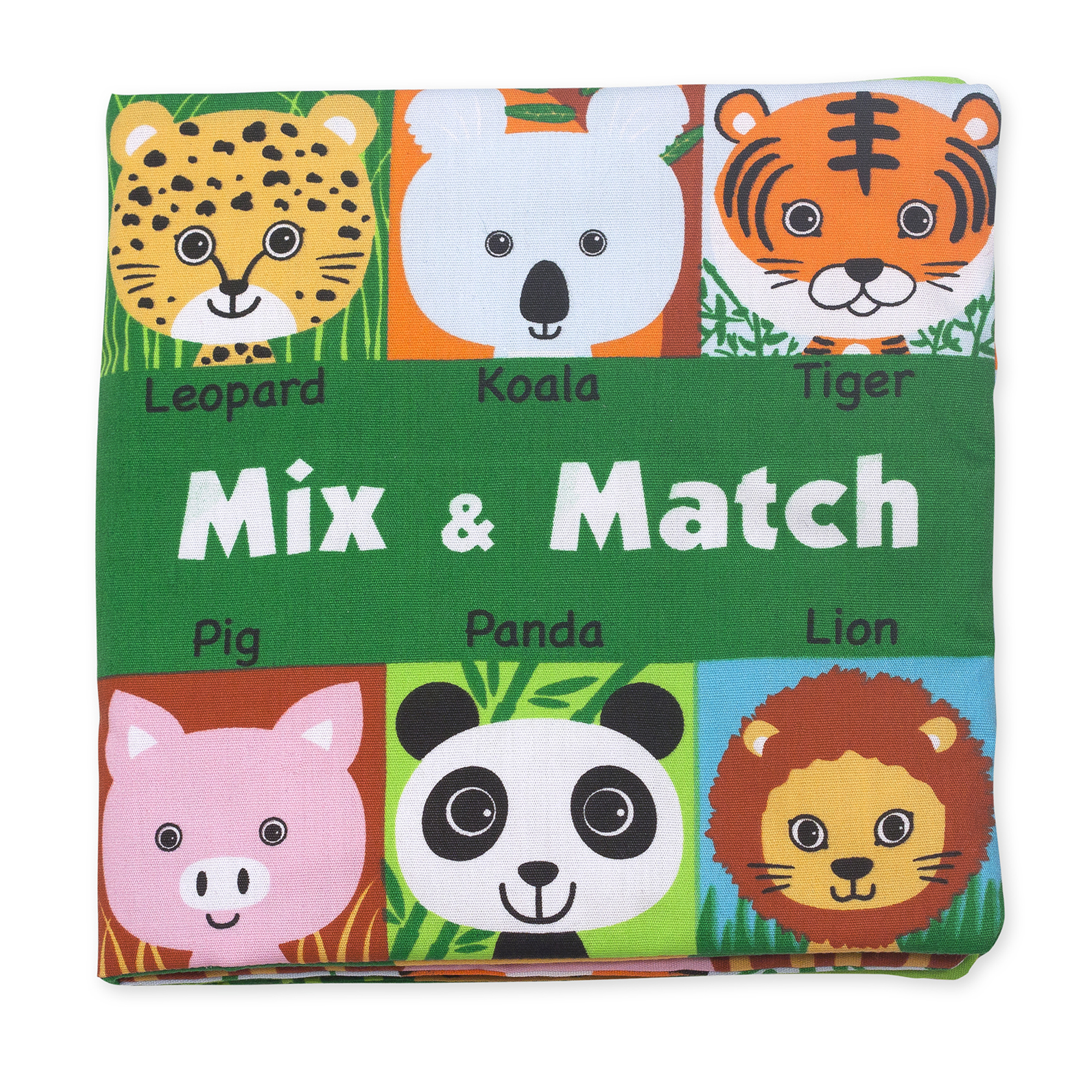 Can you find all the animal friends? Turn the crinkly flaps to build a face that matches-or create a silly creature all your own! This crinkling, lift-the-flap, mixed-up-animals cloth book from Melissa & Doug K's Kids is durably constructed to last through story time, playtime, and the washing machine, too!