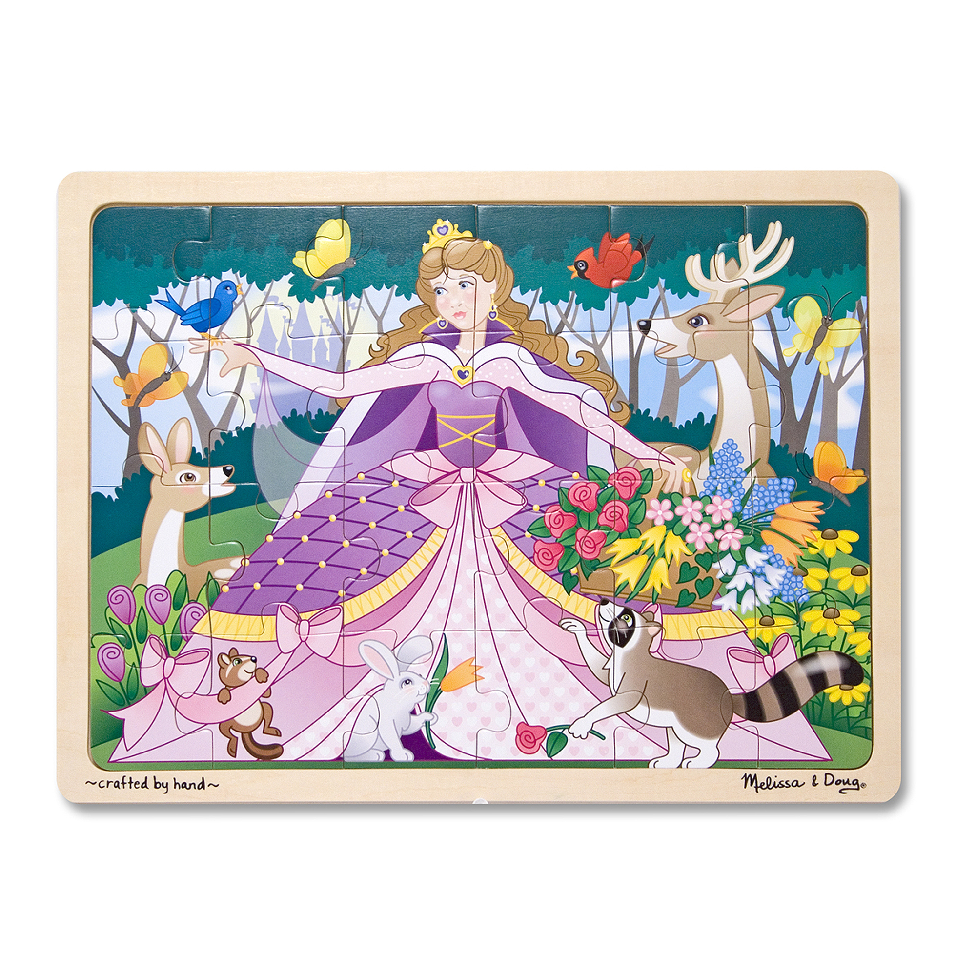 Woodland Princess Wooden Jigsaw Puzzle  24 Pieces