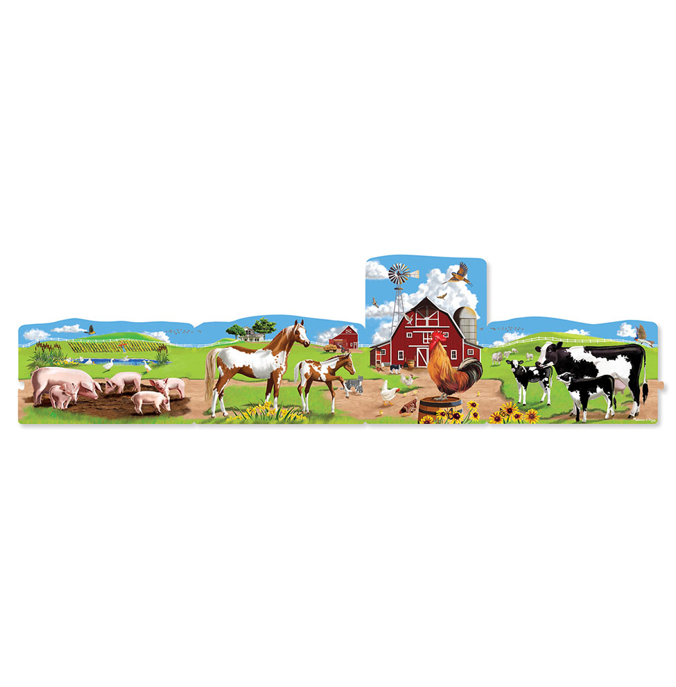 4 in 1 Linking Floor Puzzles  Farm